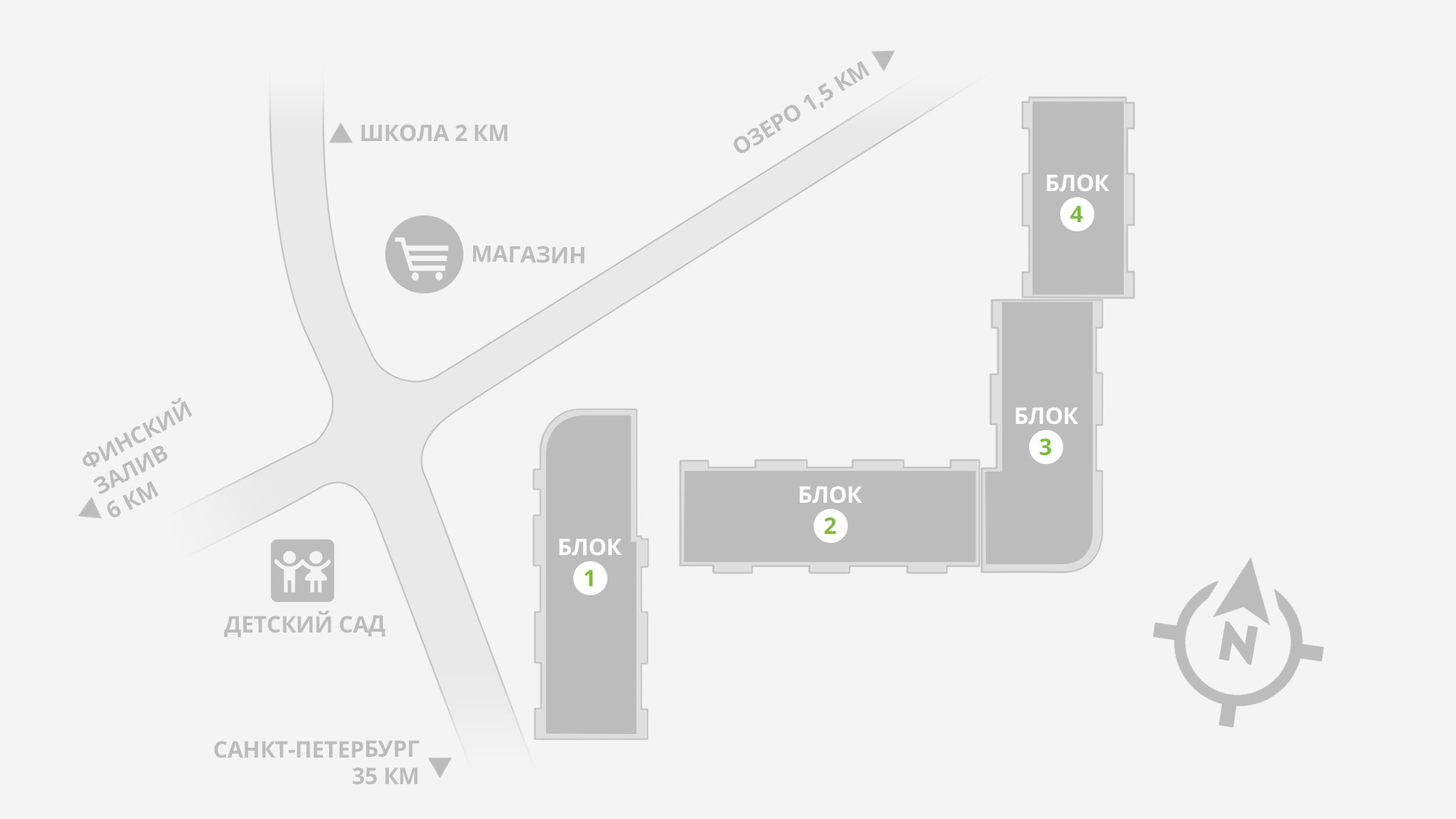 """Карта ЖК """"Новое Рощино"""""""