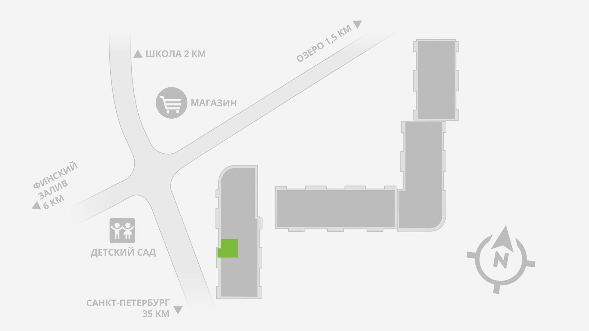 Однокомнатная квартира 1-10