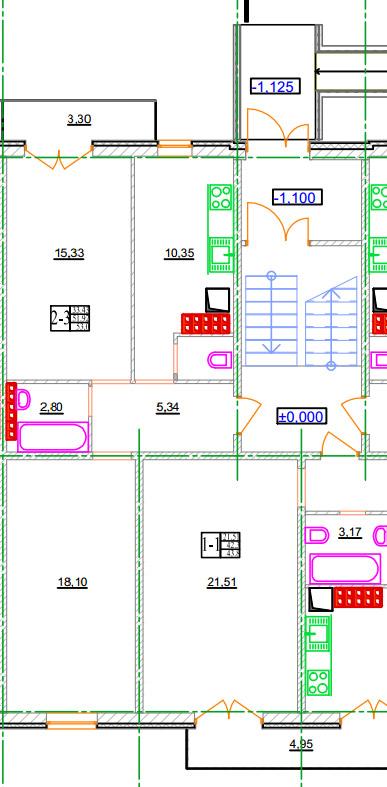 Двухкомнатная квартира 2-3