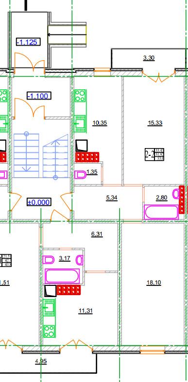 Двухкомнатная квартира 2-2